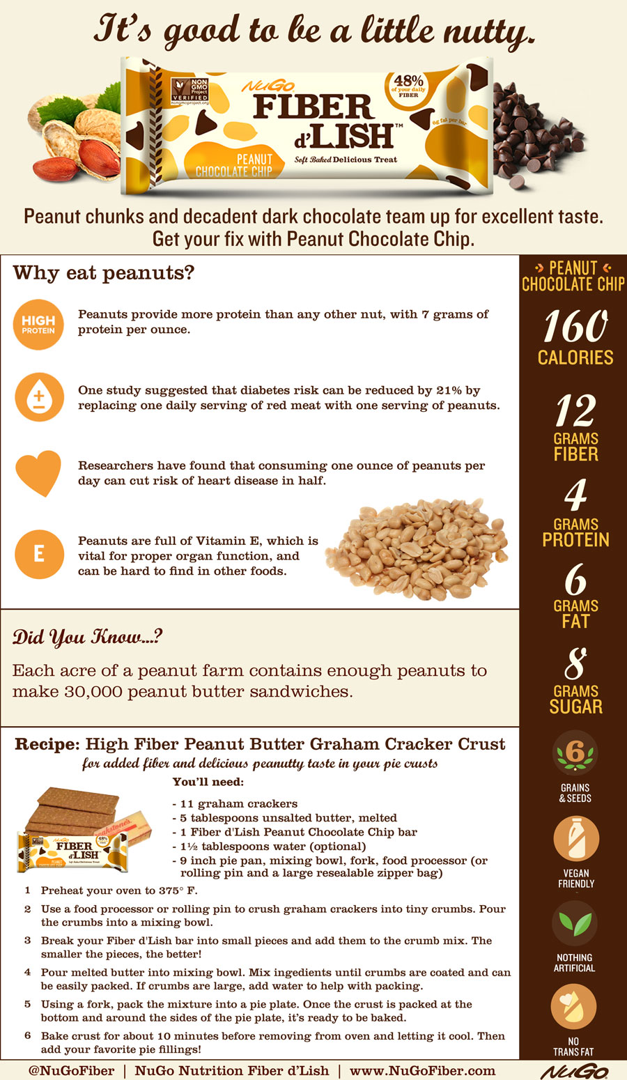 Fiber d'Lish Peanut Chocolate Chip