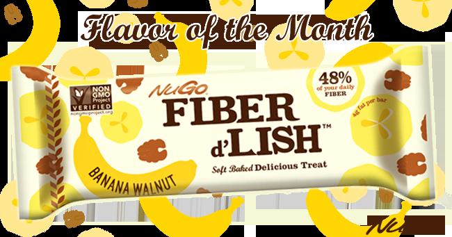 NuGo Fiber d'Lish Banana Walnut