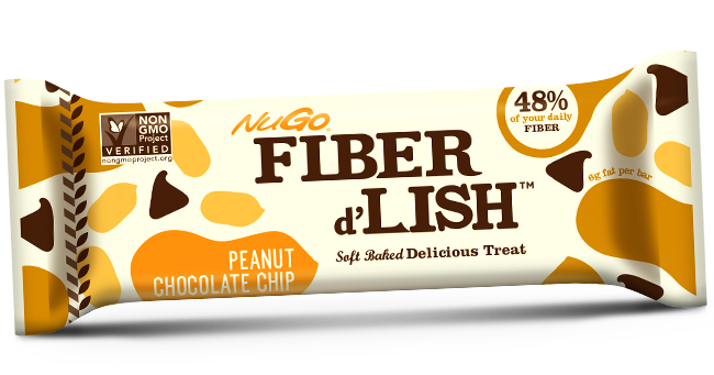 NuGo Fiber d'Lish Peanut Chocolate Chip bar