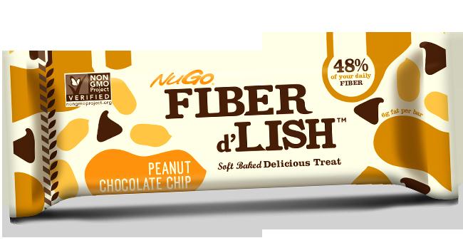 NuGo Fiber d'Lish Peanut Chocolate Chip bar