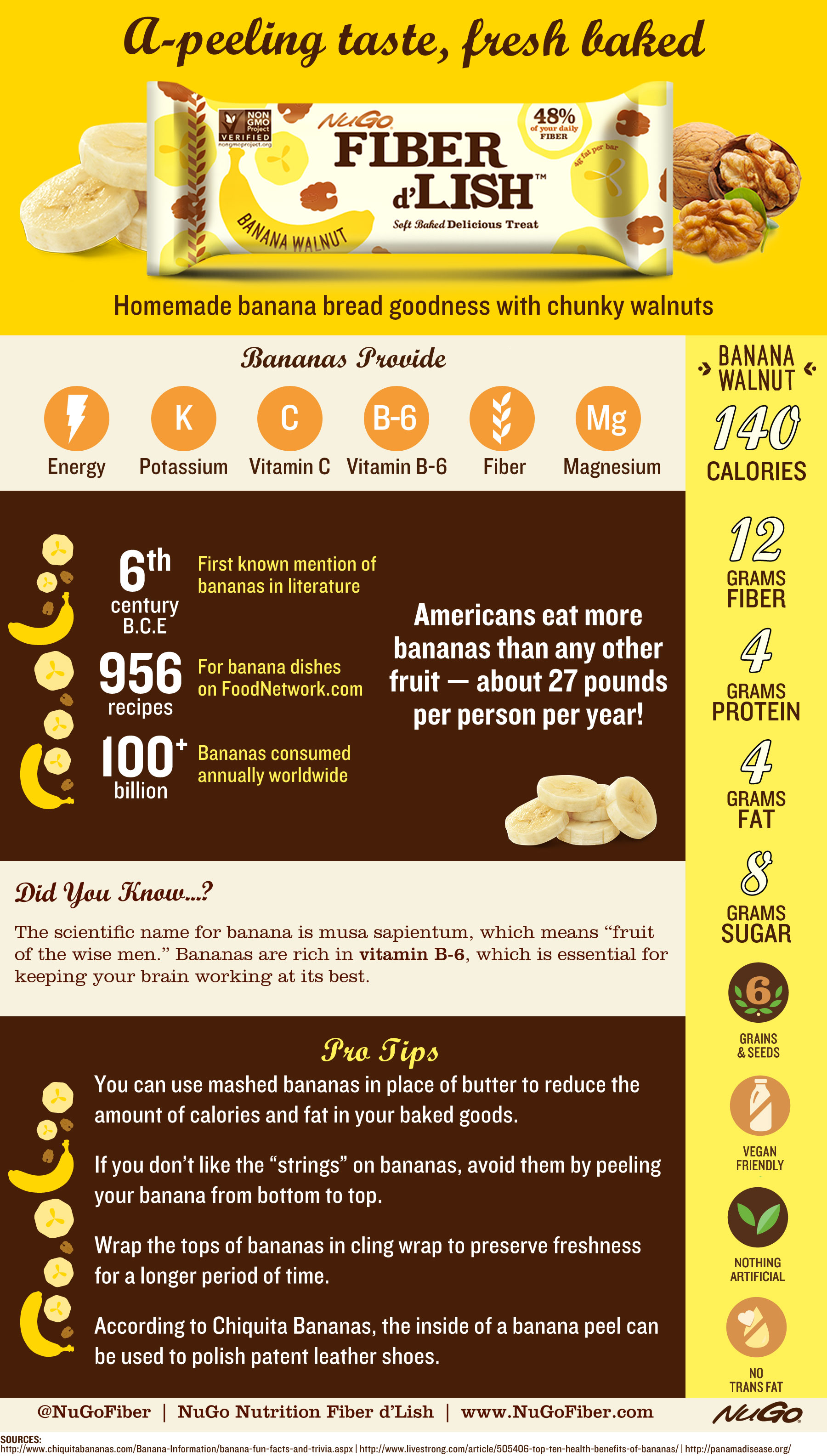 Banana Infographic | fun banana facts and information